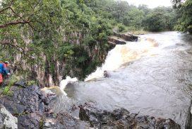 Peeking over Kalambo Falls